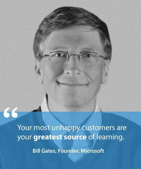 Unhappy Customers Greatest Source of Learning - Quote by Bill Gates